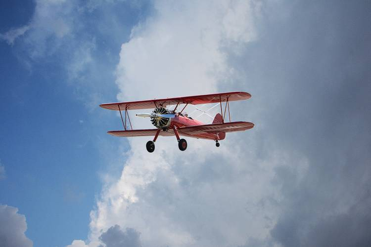 30A Red Biplane