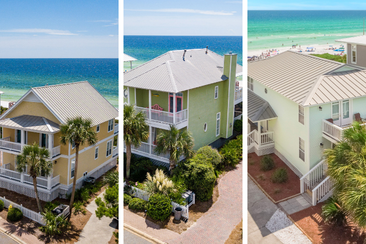 Three-Neighboring-Gulf-Front-Homes-in-Old-Florida-Beach