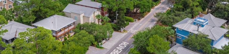 Grayton Beach Road from Air